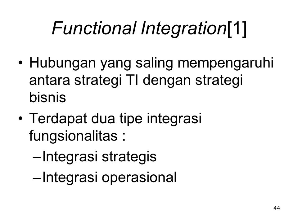 Functional Integration[1]